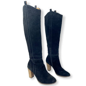 DOLCE VITA Suede Knee High Stacked Heel Boots